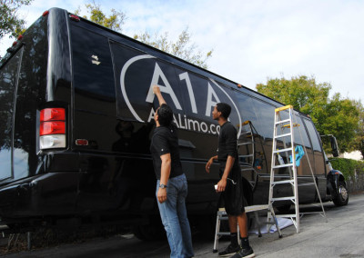A1A Limo - Vinyl Lettering #1