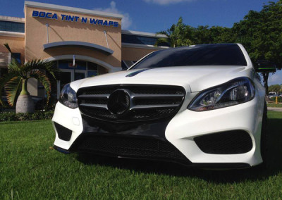 Mercedes C350 - White Gloss & Black Accents