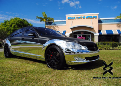 Mercedes S600 - Chrome & Carbon Fiber Wrap #2