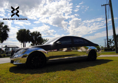 Mercedes S600 - Chrome & Carbon Fiber Wrap