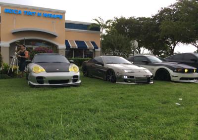 Porsche, Nissan, Mustang