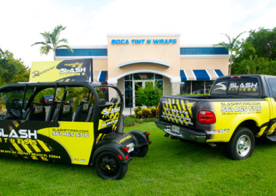 Slash Fitness - Full Wrap - Truck & Cart