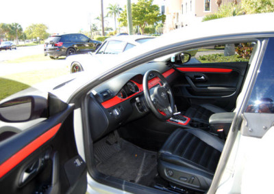 VW CC - Interior Wrap Carbon Fiber Red #2
